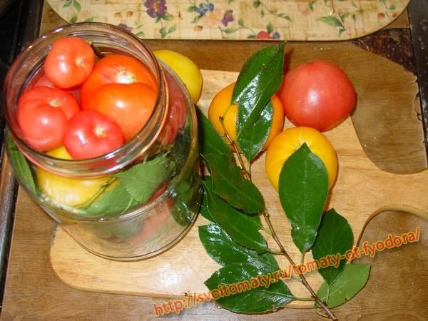 Консервированные томаты с вишневым ароматом